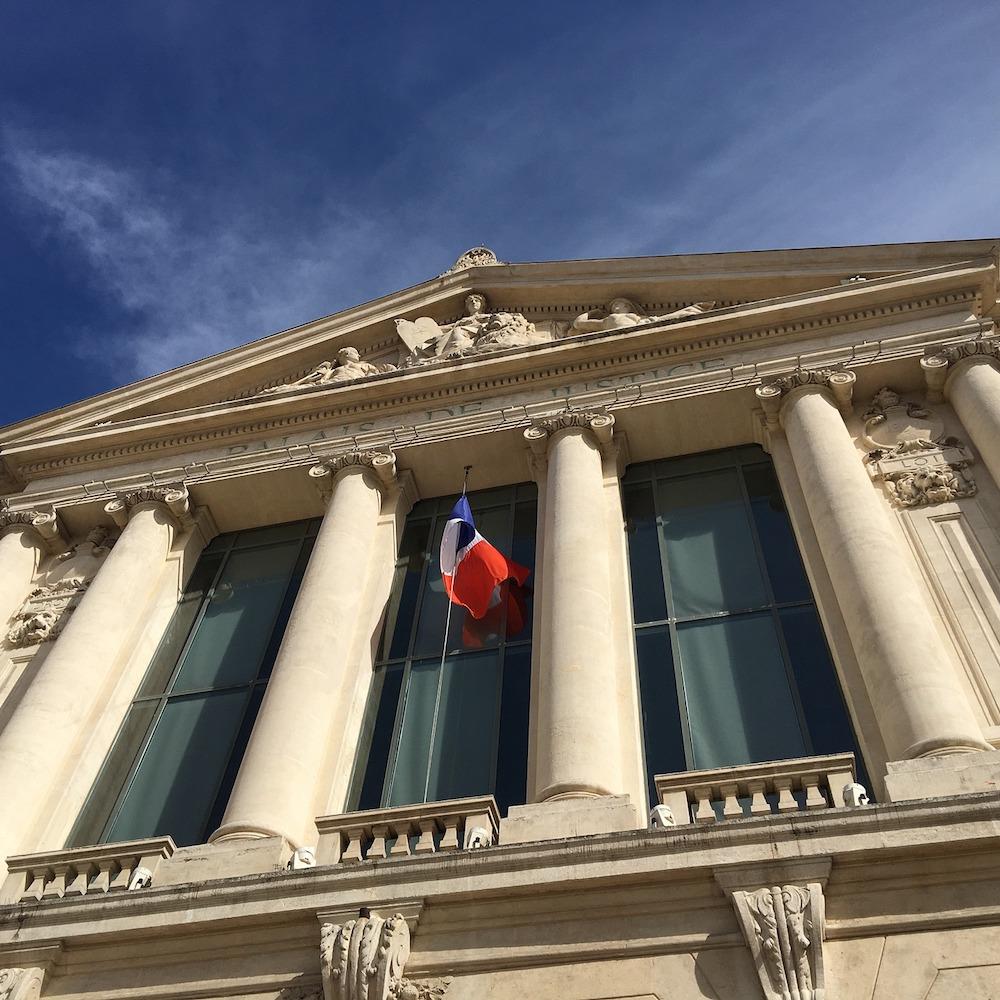 Le Palais de justice à Nice